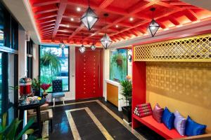 The lobby or reception area at Red Door Heritage Hotel