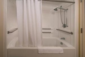 A bathroom at Holiday Inn Express State College at Williamsburg Square, an IHG Hotel