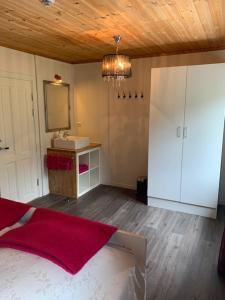 Kjøkken eller kjøkkenkrok på Nordbø Pensjonat