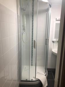 A bathroom at Skelwith Bridge Hotel