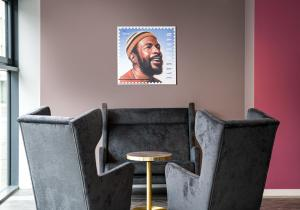 A seating area at ANA Living Oberhausen by Arthotel ANA