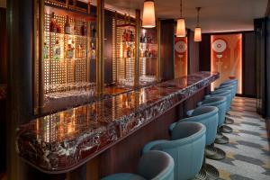 The lounge or bar area at Alcron Hotel Prague