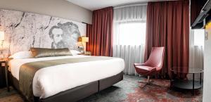 Кровать или кровати в номере Mercure Belfort Centre