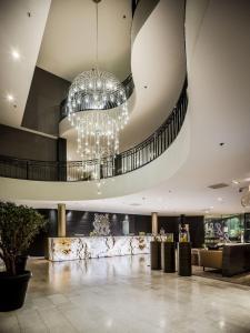 The lobby or reception area at Hotel Van der Valk Maastricht