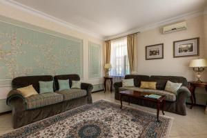 Гостиная зона в Отель Боровница