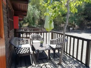 A balcony or terrace at Camping la Pedrera