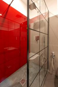 A bathroom at Il Rubino Holiday House