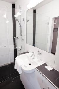 Ein Badezimmer in der Unterkunft Hotel Siebenschläfer