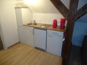 Küche/Küchenzeile in der Unterkunft Zur alten Jugendherberge