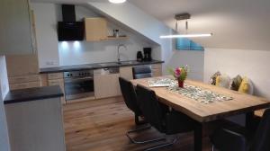 Dapur atau dapur kecil di Gästehaus Hosp