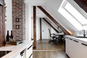 A kitchen or kitchenette at Luxus Design-Loft und Apartment im Villenviertel