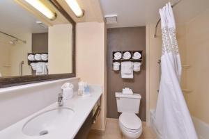 A bathroom at Hampton Inn Closest to Universal Orlando