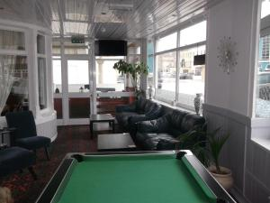 A billiards table at Elmfield