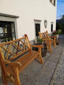 Patio lub wspólna przestrzeń na świeżym powietrzu w obiekcie Old Bled House