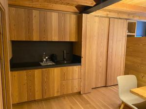 A kitchen or kitchenette at Hotel Centrale