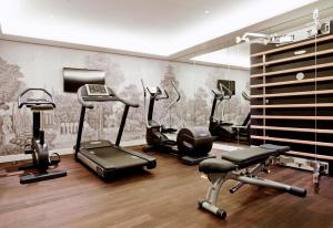 The fitness center and/or fitness facilities at Grand Hôtel Du Palais Royal