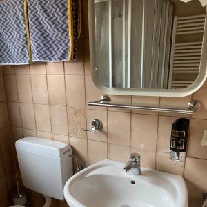 Vonios kambarys apgyvendinimo įstaigoje Pension Thilo