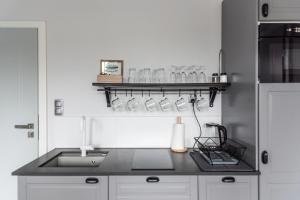 A kitchen or kitchenette at Apartamenty Oliwa