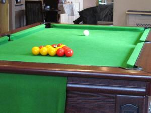 A pool table at Macbeth Arms