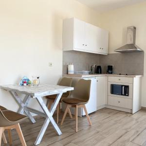 A kitchen or kitchenette at Michail Suites Afiartis Karpathos
