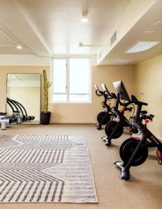 The fitness center and/or fitness facilities at Hotel June