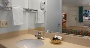 A bathroom at Orange Show Inn