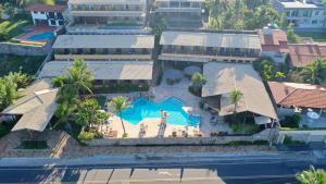 Uma vista aérea de Hotel Laguna Blu