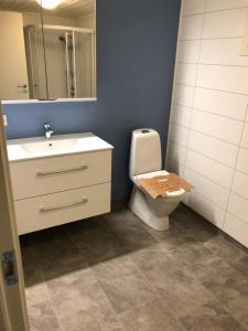 A bathroom at FLO Lofoten ECO Escape