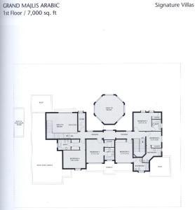 The floor plan of 7 Bedroom Beachfront Estate Sleeps 16