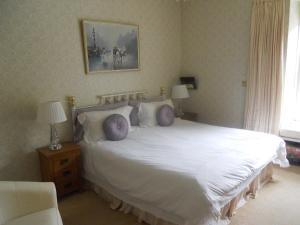 A bed or beds in a room at Bryn Aethwy