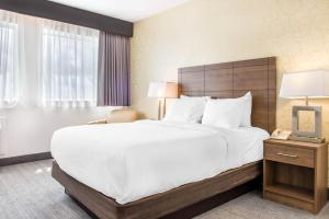 A bed or beds in a room at Quality Hotel Dorval