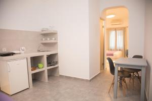 Η κουζίνα ή μικρή κουζίνα στο Markakis Studios Fira Town