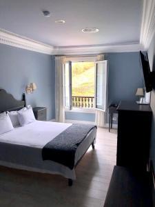Cama o camas de una habitación en Hotel Fonte do Fraile