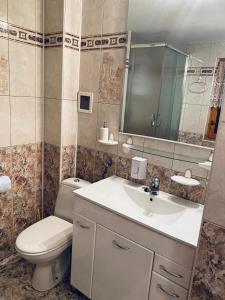Łazienka w obiekcie Domek letniskowy Grodek