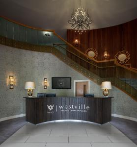 The lobby or reception area at Westville Hotel