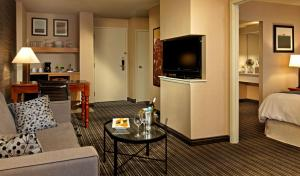 A television and/or entertainment center at Cambridge Suites, Sydney