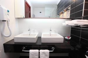 Ванная комната в Hotel Central