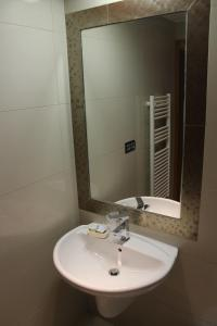 A bathroom at Hostal Burbia