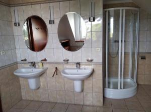 Kúpeľňa v ubytovaní Ubytovanie pri Kúpeľoch