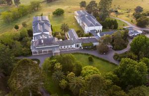 A bird's-eye view of Chateau Yering Hotel