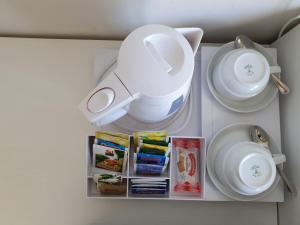 Set per la preparazione di tè e caffè presso Hotel Parco