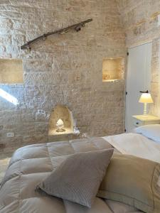 A bed or beds in a room at Trulli Antichi Mestieri