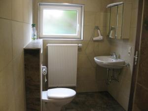 Ein Badezimmer in der Unterkunft Ferienwohnung Kulla