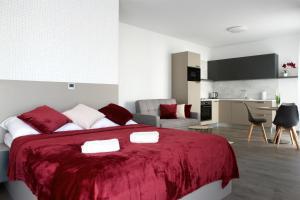 Posteľ alebo postele v izbe v ubytovaní Apartmán Greenbay Golf