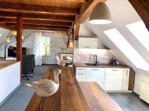 Küche/Küchenzeile in der Unterkunft Ferienapartments Spreewaldwiesen