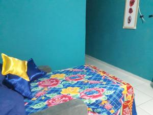 A bed or beds in a room at No coração do Recife