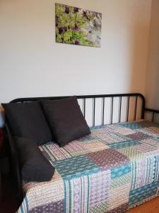 Ein Bett oder Betten in einem Zimmer der Unterkunft HABRUCK 27 - Ferienwohnungen an der Wachau