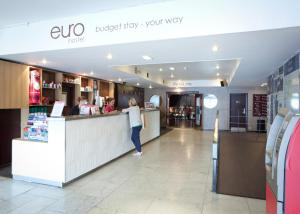 The lobby or reception area at Euro Hostel Glasgow