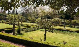 A garden outside Waren House Hotel Northumberland