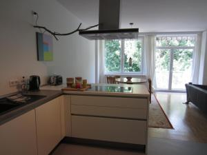 A kitchen or kitchenette at K9 Wohnungen